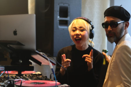 DJ SARASAさんと沖野修也さん