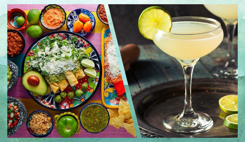 メキシコ料理とマルガリータのイメージ