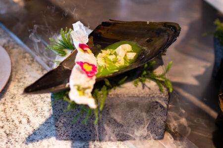 フレッシュ貝のグリーン・アグアチレ